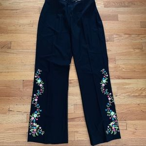 Escada New wool embroidered pants